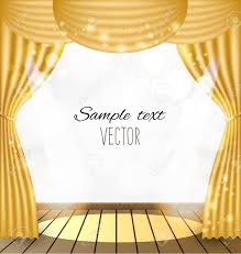 Gold Curtain Gold Curtains Vector Background Royalty Free Cliparts Vectors