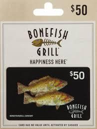 bonefish gift card bonefish grill tustin gift card restaurant gift cards