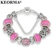 crystal pink bracelet images Keorma antique silver bracelets for women murano glass bead jpg
