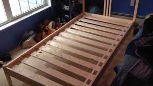 How To Build A Twin Size Platform Bed Frame by How To Build Assemble Put Together Ikea Fjellse Wooden Twin Bed