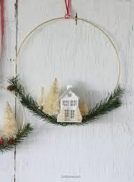diy bottle brush tree wreath lolly