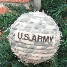 tree ornament branch us army