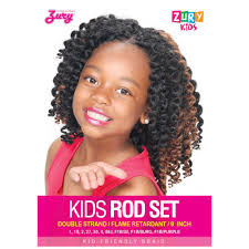 crochet braid hair zury kid s crochet braid kids rod set 9