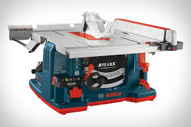 Job Site Table Saw Bosch Reaxx Portable Jobsite Table Saw Uncrate