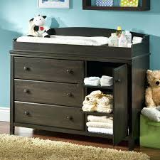 Pecan Changing Table Changer Dresser Combo Changing Table And Dresser Beautiful