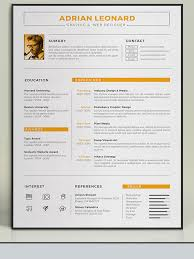Creative Resumes Templates Free Resume Template Unique U2013 Brianhans Me