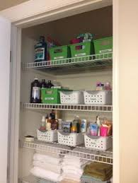 bathroom closet shelving ideas project organize your entire tip baskets organizing