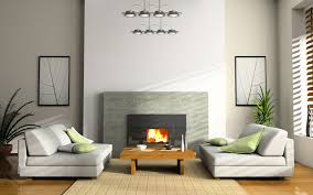 Natural Home Decor Architecture Modern Grey Fireplace In Minimalist Home Design