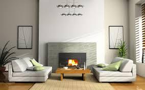 architecture modern grey fireplace in minimalist home design