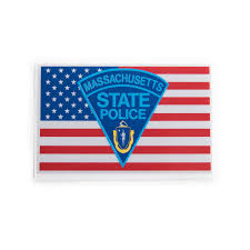 Massachusetts Flag Msp Flag Logo Sticker Mhq Mhq