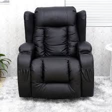 real leather swivel recliner chairs caesar 10 in 1 winged leather recliner chair rocking massage
