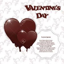 chocolate for s day gift card with chocolate melting hearts s day