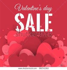 valentines sale valentines day sale letters hearts stock vector