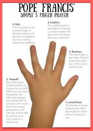 thanksgiving prayer for teachers pope francis u0027 five finger prayer for kids catholic mommy blogs