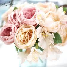 fleur artificielle mariage nouveau bouquet de mariage ronde bouquet fleur artificielle