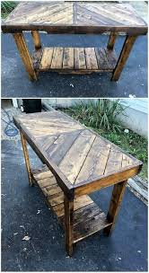 Pallet Console Table Creative Recycling Ideas For Old Shipping Pallets Pallet Wood