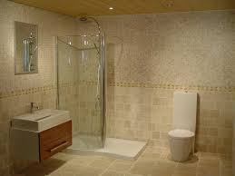 modern bathroom tiles and fixture with shower room design