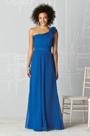 royal blue chiffon bridesmaid dresses one shoulder royal blue chiffon bridesmaid dress wholesale