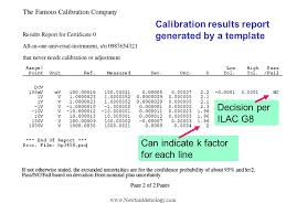 calibration report template matroval a calibration software with advanced uncertainty and