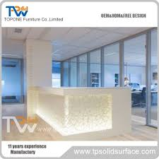led light desk l l shape modern led light clinic reception desk for clinic furniture