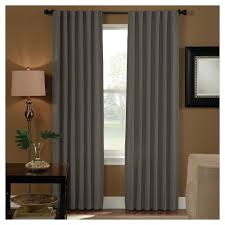 curtainworks saville back tab room darkening curtain panel grey