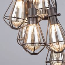 7 light vintage cluster ceiling pendant bronze from litecraft