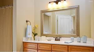 Trim Around Bathroom Mirror Wood Trim Around Bathroom Mirror