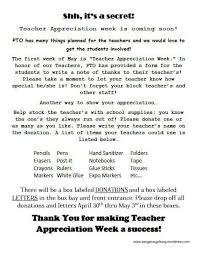 the 25 best teacher appreciation letter ideas on pinterest