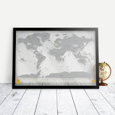 World Scratch Map by Scratchables