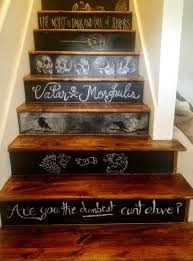 game of thrones themed chalkboard stairs gameofthrones diy