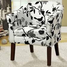 Barrel Accent Chair Coaster Bird Tree Print Barrel Accent Chair 460406
