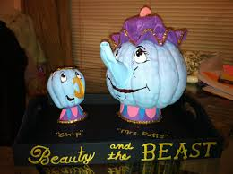 mrs potts and chip from beauty and the beast pumpkins for