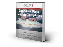 Resume Style Canadian Style Resume Template