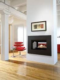 fireplace decorating selection with black rectangle firebox and