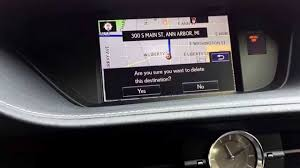 youtube lexus navigation system canceling a gps navigation route on a lexus with remote touch