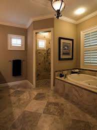 Neutrals Wall Color Bathroom With Neutral Wall Color And Doorless Walk In Shower