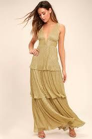 gold maxi dress stunning gold maxi dress tiered maxi dress plunge neck maxi