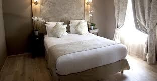 décoration chambre taupe et beige tete de lit