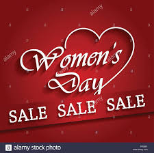 womens day sale poster with ribbon vector illustration stock