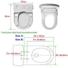 size of toilet hibbent non electric bidet toilet seats no electricity bathroom