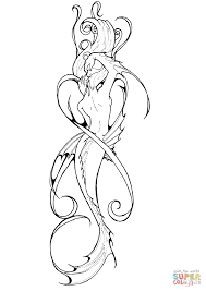 mermaid tattoo coloring free printable coloring pages