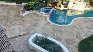 Pea Gravel And Epoxy Patio by Austin Decorative Concrete Overlay Texas Premier Coat Resurfacing