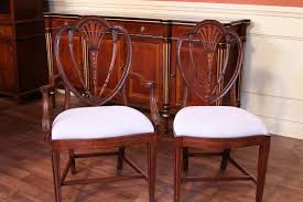 High End Dining Room Sets by Chair Antique Reproduction Solid Mahogany Chippendale Dining