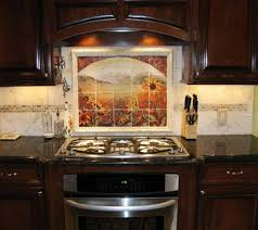 Kitchens With Stone Backsplash Kitchen Stone Backsplash Ideas With Dark Cabinets Shelving Ideas