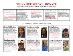 Think Before You Text Your - the truth about think before you donate goodwill industries of