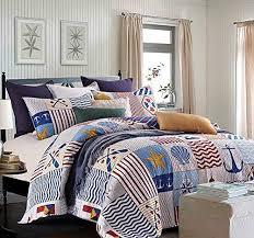Nautical Comforter Set Bedroom Brilliant Nautical Quilt Sets Promotion Shop For