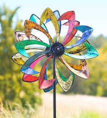 wind spinners with led lights solar led flower wind spinner with built in solar panel spins and