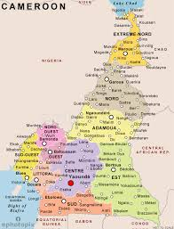 map of cameroon cameroon political map political map of cameroon political