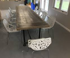 12 Foot Dining Room Table Reclaimed Wood Deskmetal And Wood Dining Table12 Foot X 3