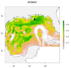 Map Of The Gulf Of Mexico Deepwater Horizon Oil Spill Impacted Bluefin Tuna Spawning Habitat